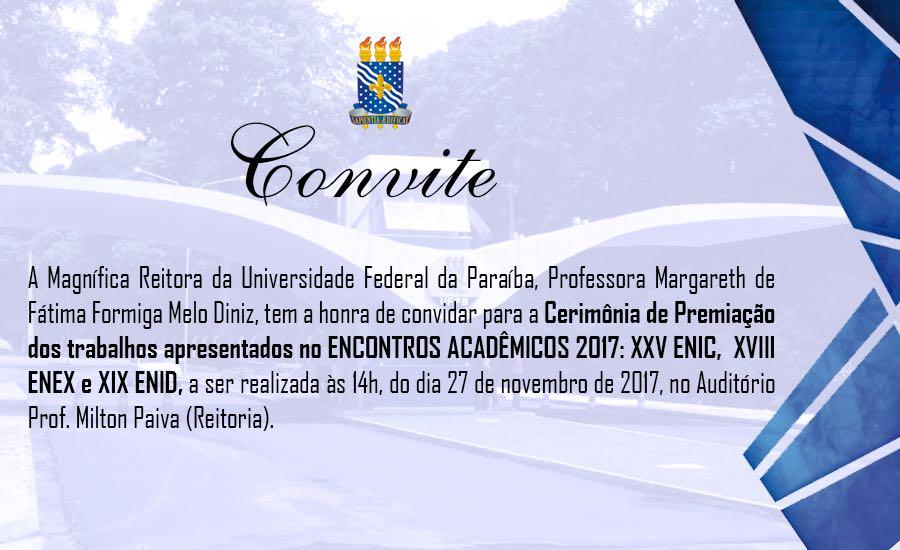Convite Premiação 2017